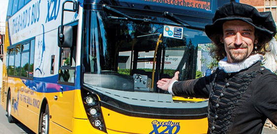 JOHNSONS RE-LAUNCH THE X20 BARD'S BUS