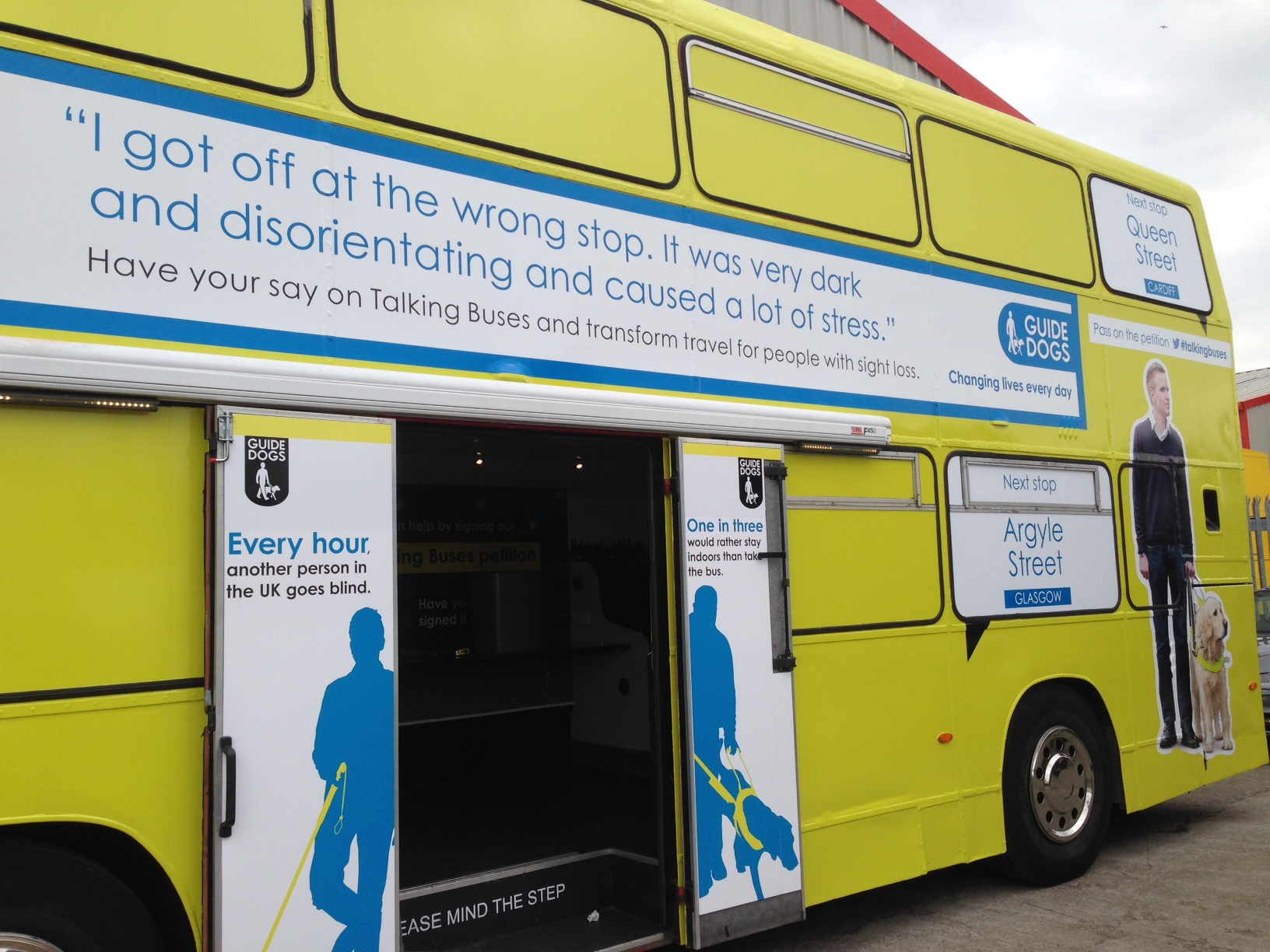 STAND OUT FOR TALKING BUSES